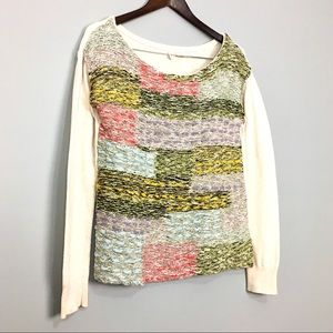 Anthropologie Moth Wool Blend Chunky Knit Sweater